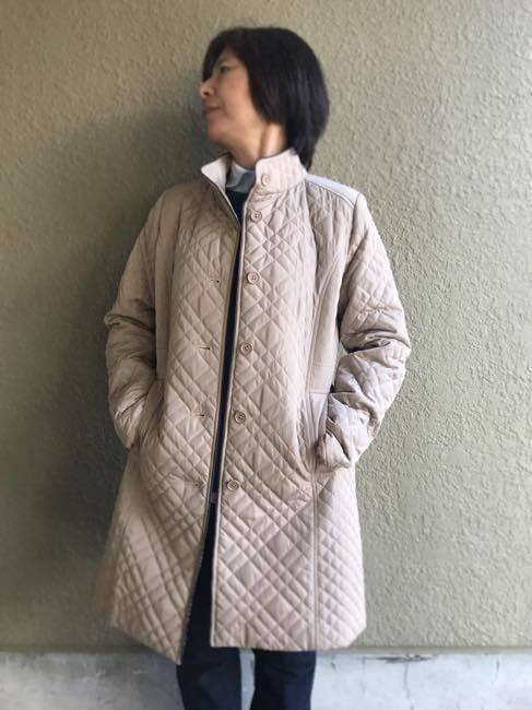 RESPIGHI   FEMME    レスピーギファム   中綿キルティングコート   ベージュ