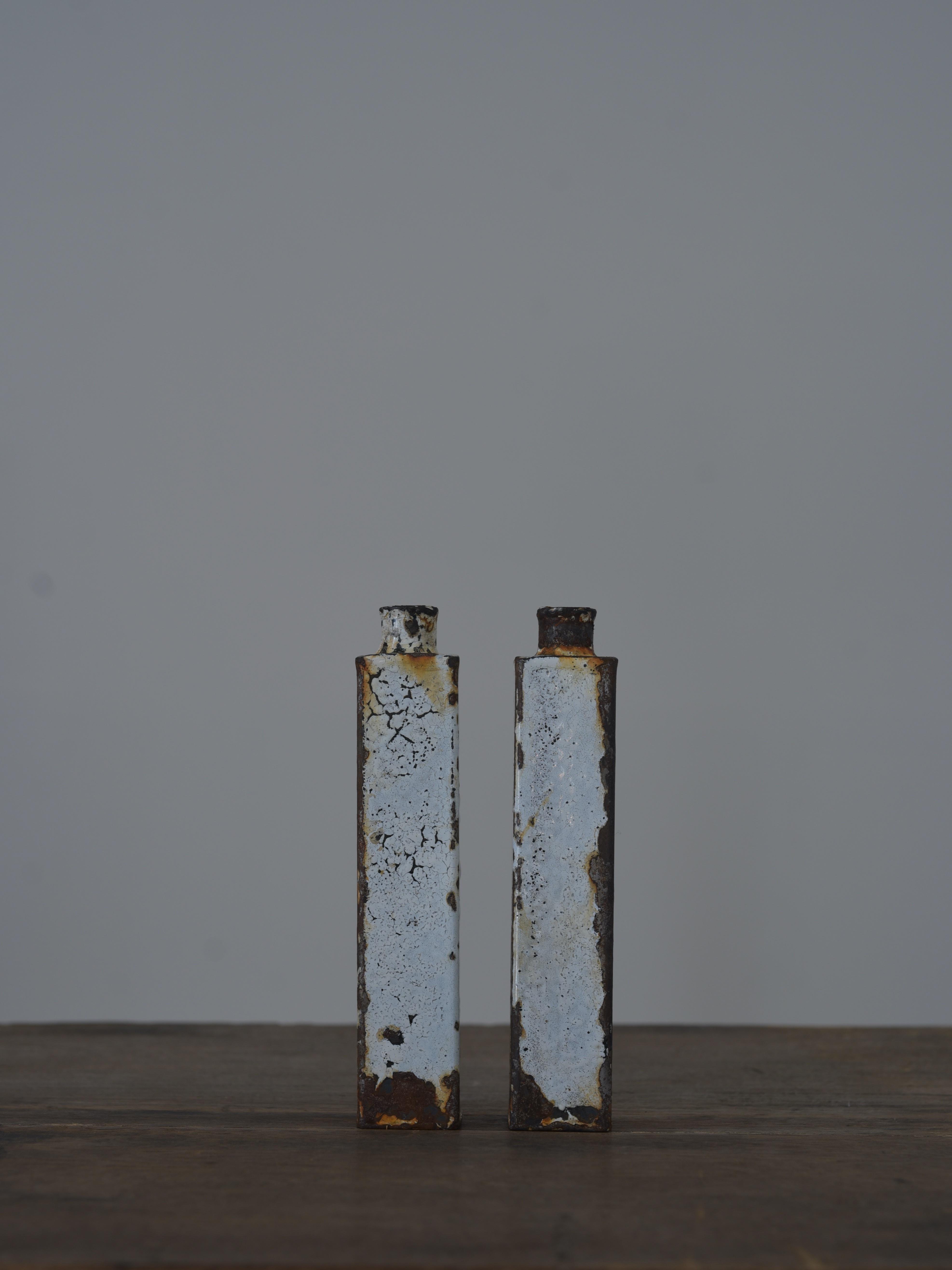 大山求 琺瑯花器L