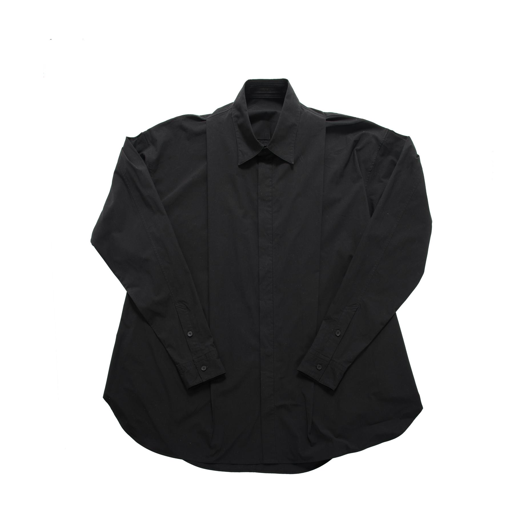 597SHM4-BLACK / タックドシャツ