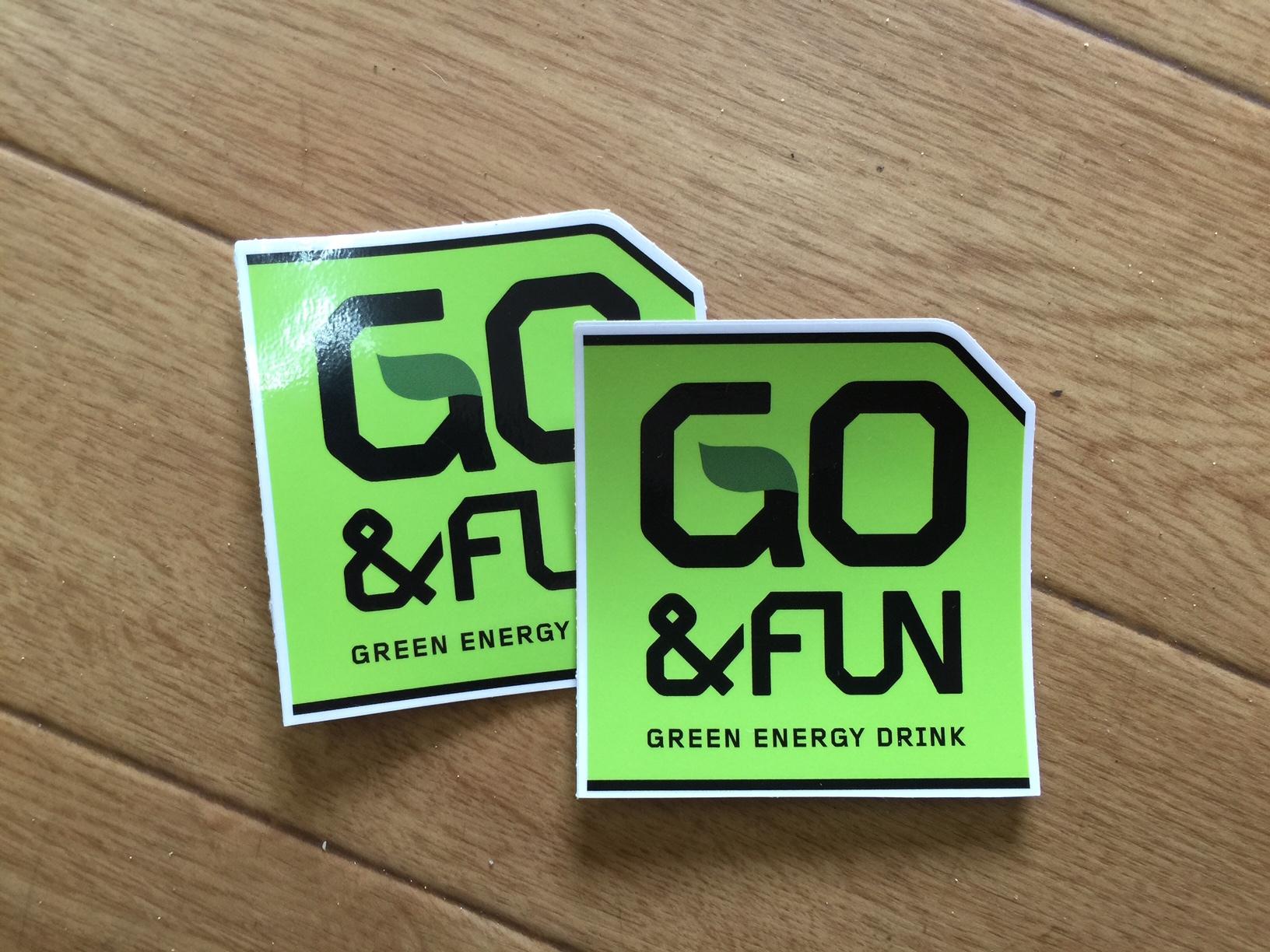 GO&FUN ステッカー(w45 × h46mm)※1枚