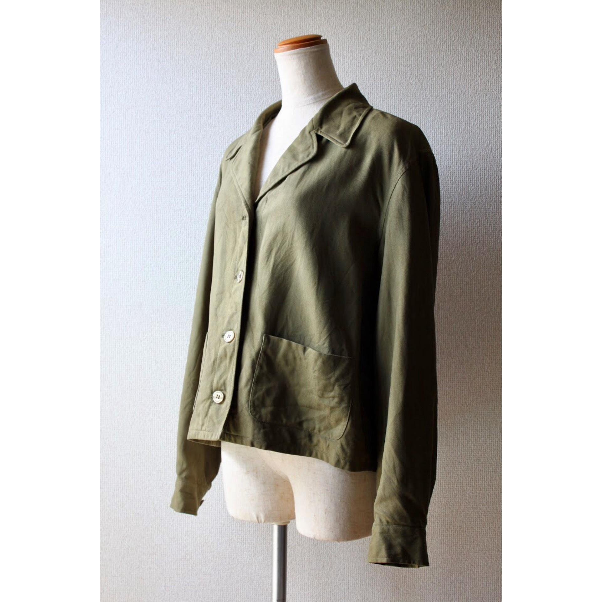 Vintage short length silk jacket