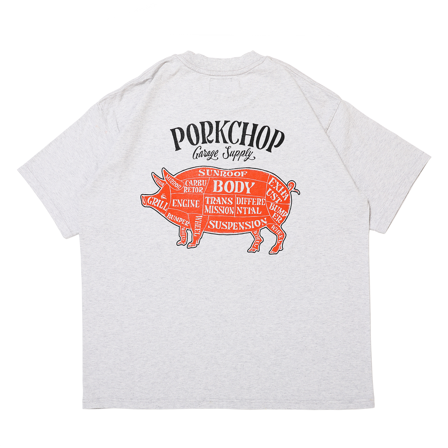 PORK BACK TEE/GRAY×BKOR