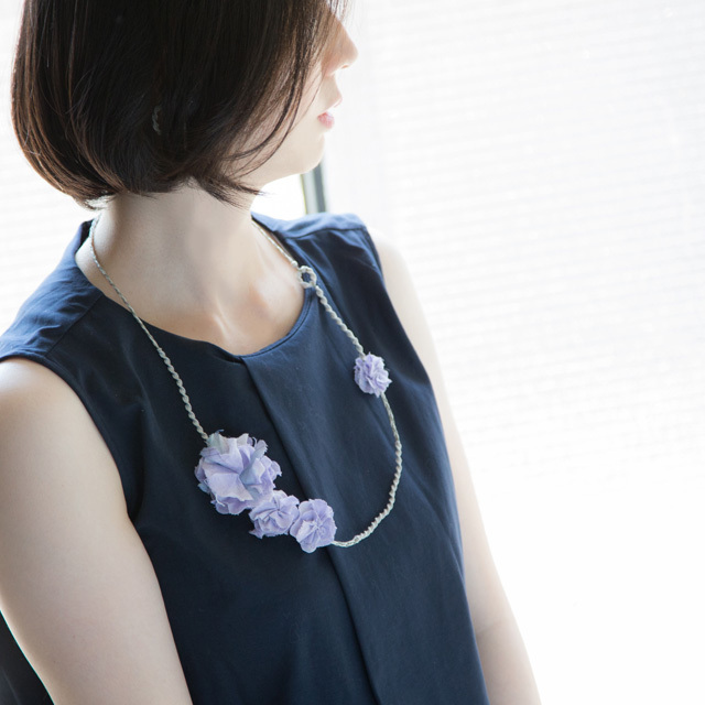 Necklace 〈 Sakira 〉 Lavender