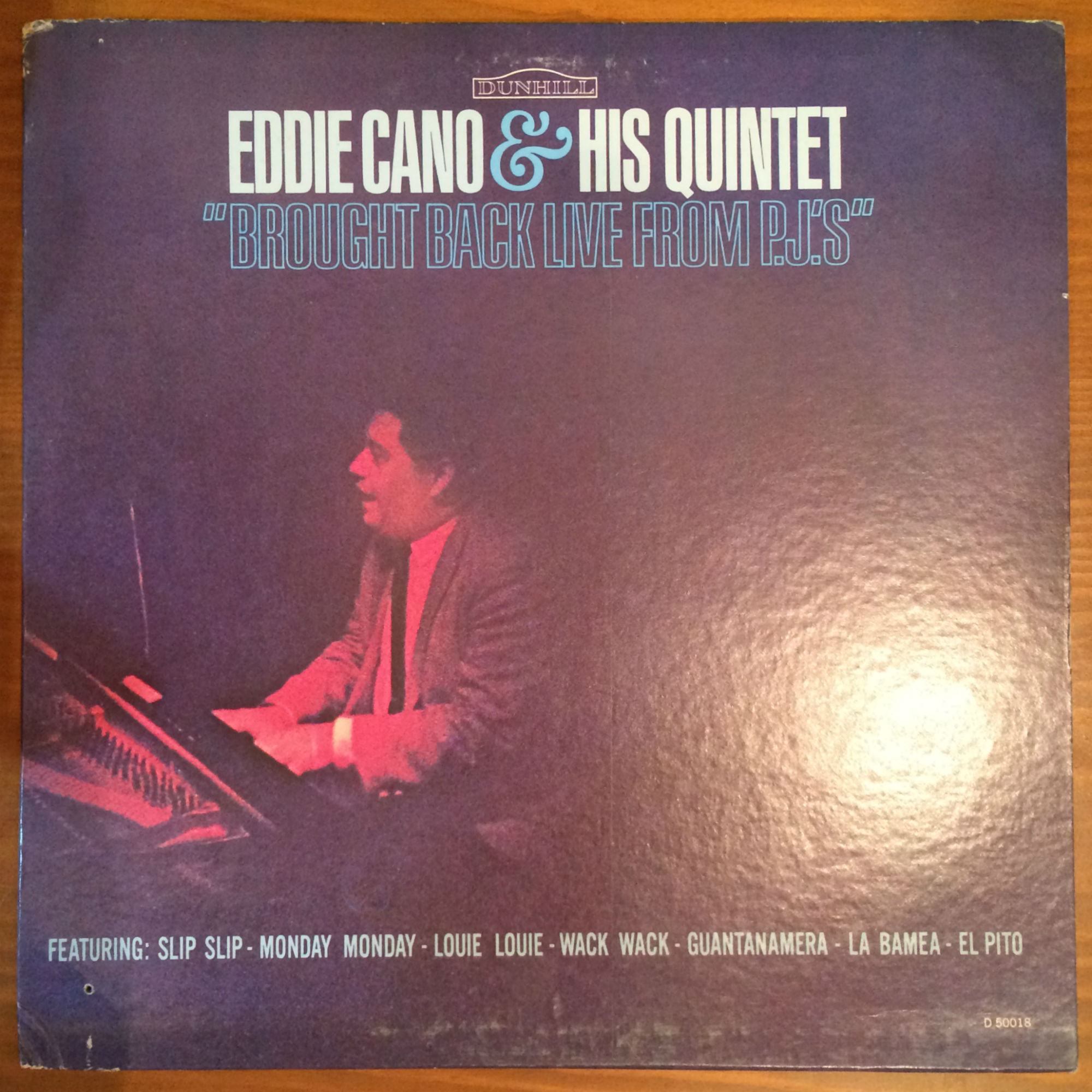 ●EDDIE CANO & HIS QUINTET / BROUGHT BACK LIVE FROM PJ'S