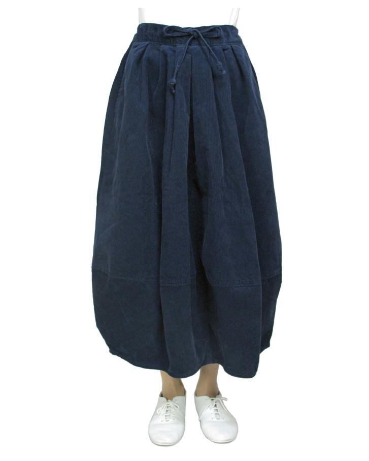 cord cocoon skirt Lot:35310 - 画像3