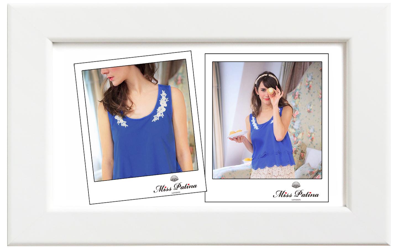 Miss Patina/ミス・パティーナ Paper Doll キャミソール/ブルー