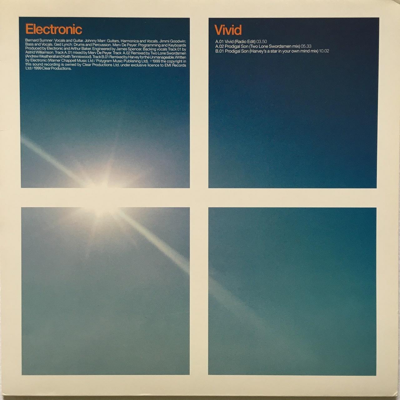 【12inch・欧州盤】Electronic / Vivid