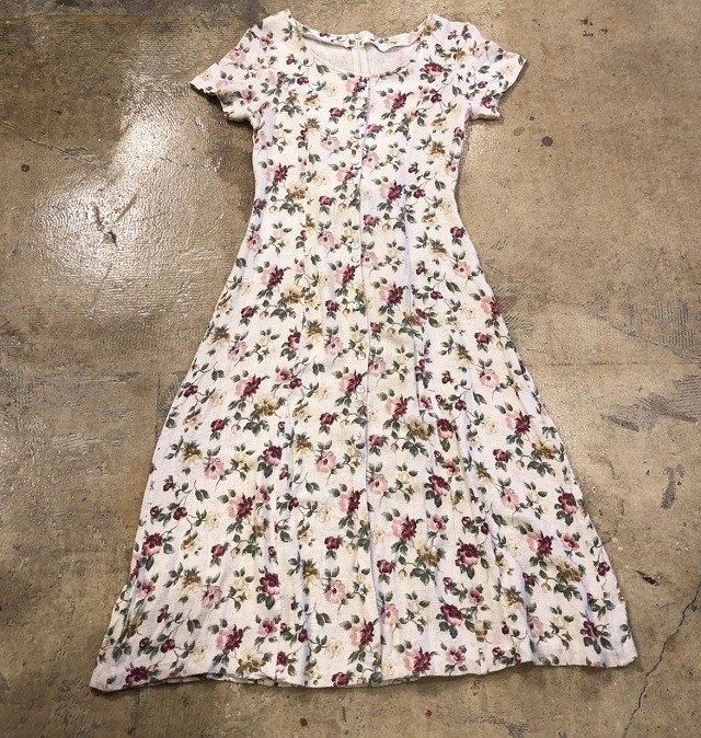 Vintage Floral Dress #TP-177