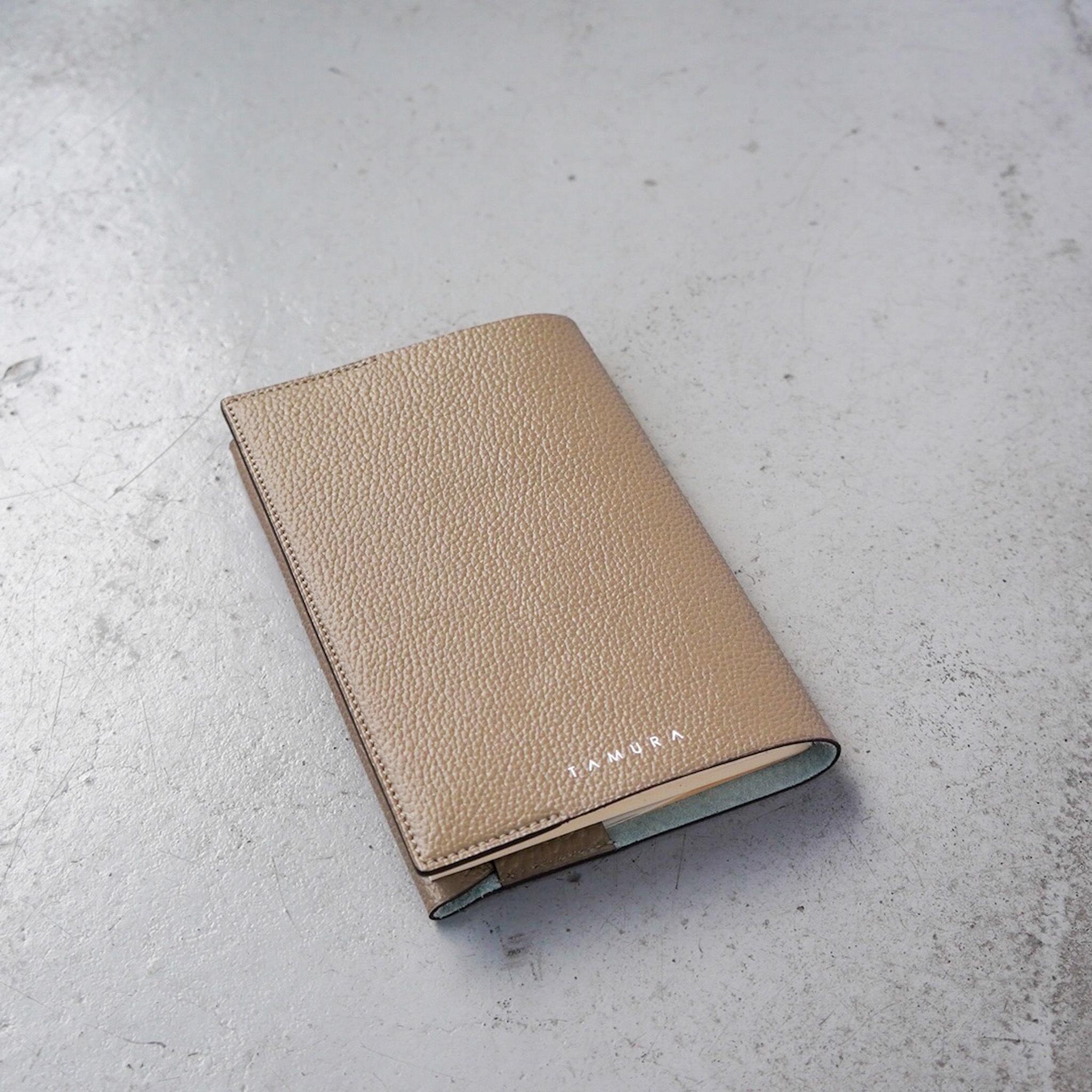 BOOK COVER(文庫サイズ)グレージュ × パステルグリーン
