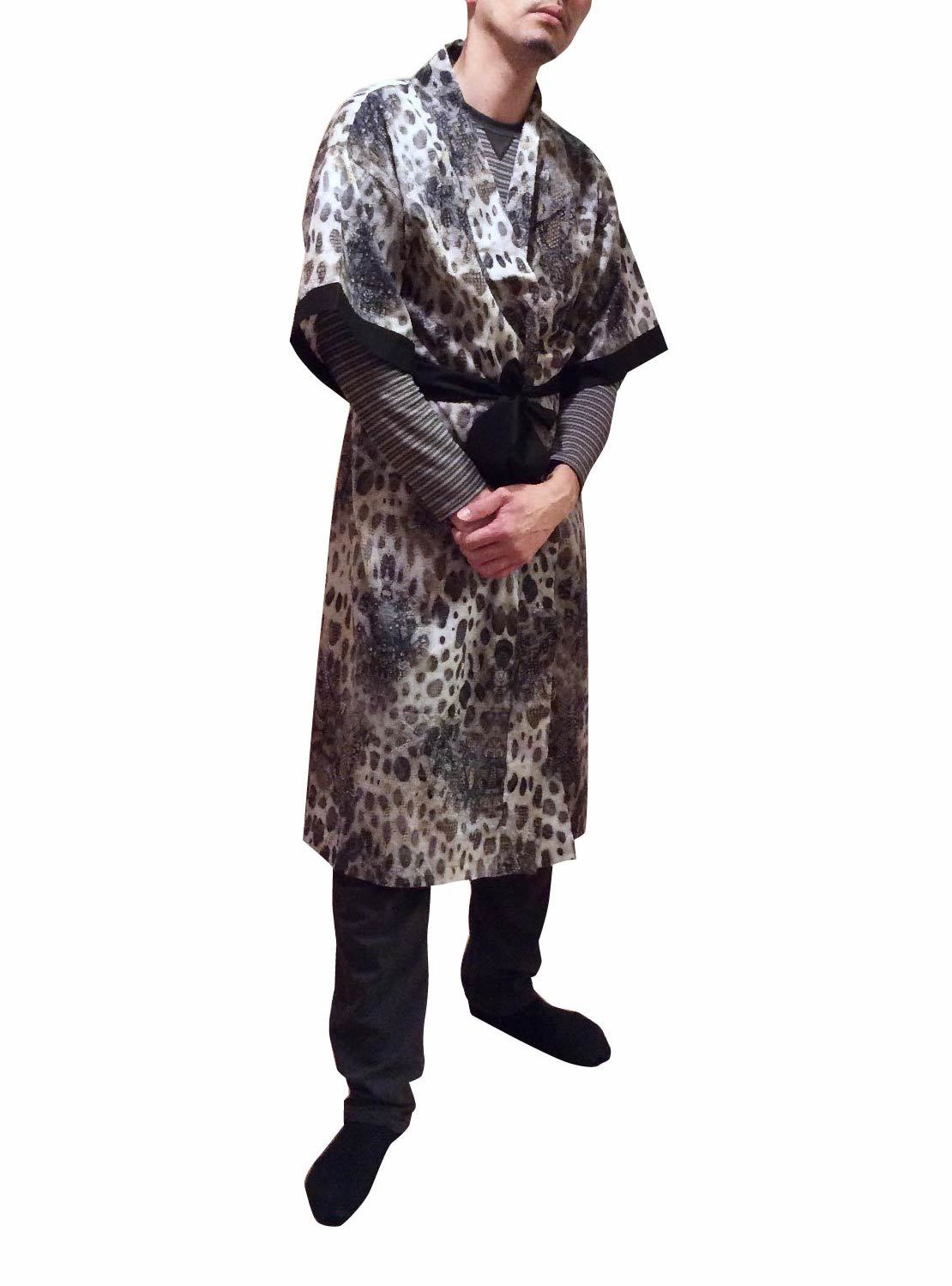 Long Robe Psychedelic Animal For Men ロングローブサイケデリックアニマルメンズ