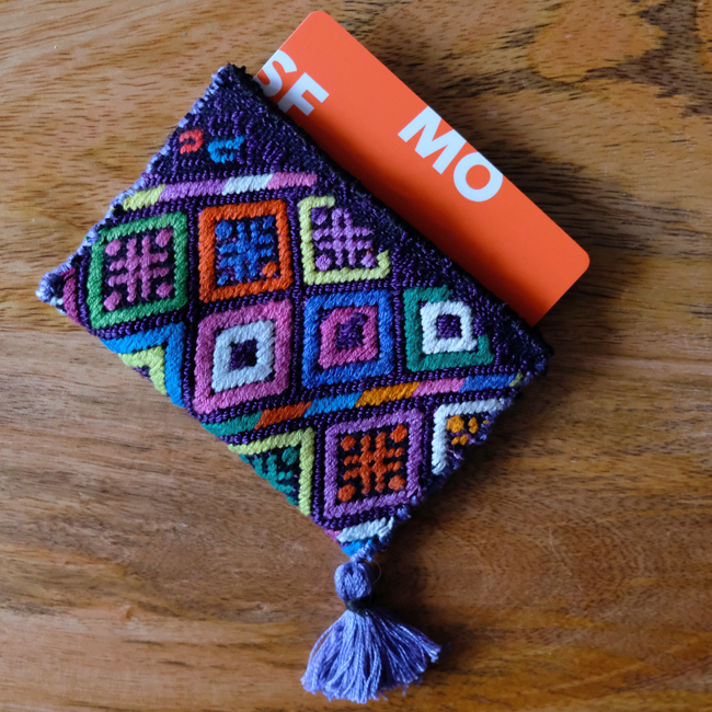 &JOURNEY original ナワラ織りのパスケース /293c/ GUATEMALA グアテマラ