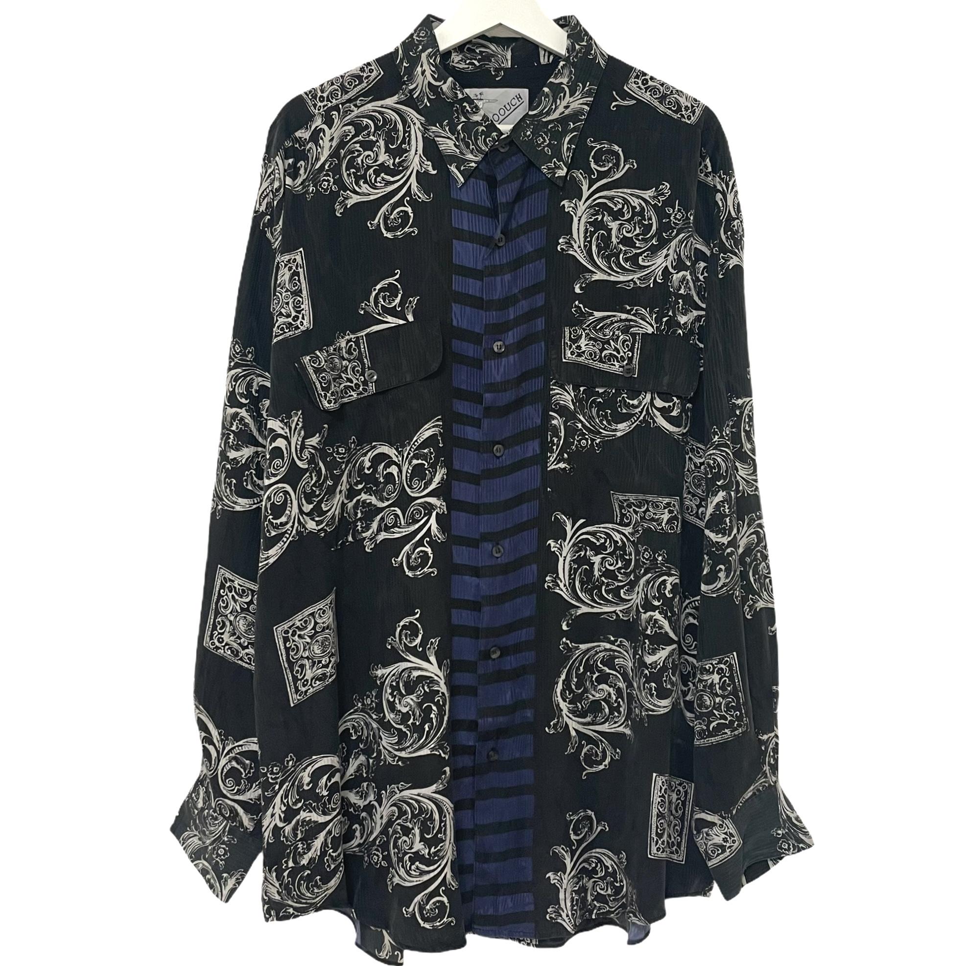Dead Stock 90's GOOUCH Silk Shirt 【 PLUM 】