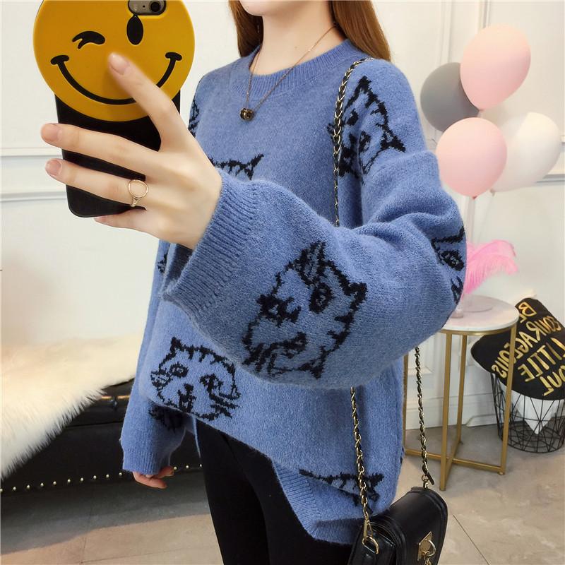 【トップス】プリント合わせやすい可愛いセーター14951326