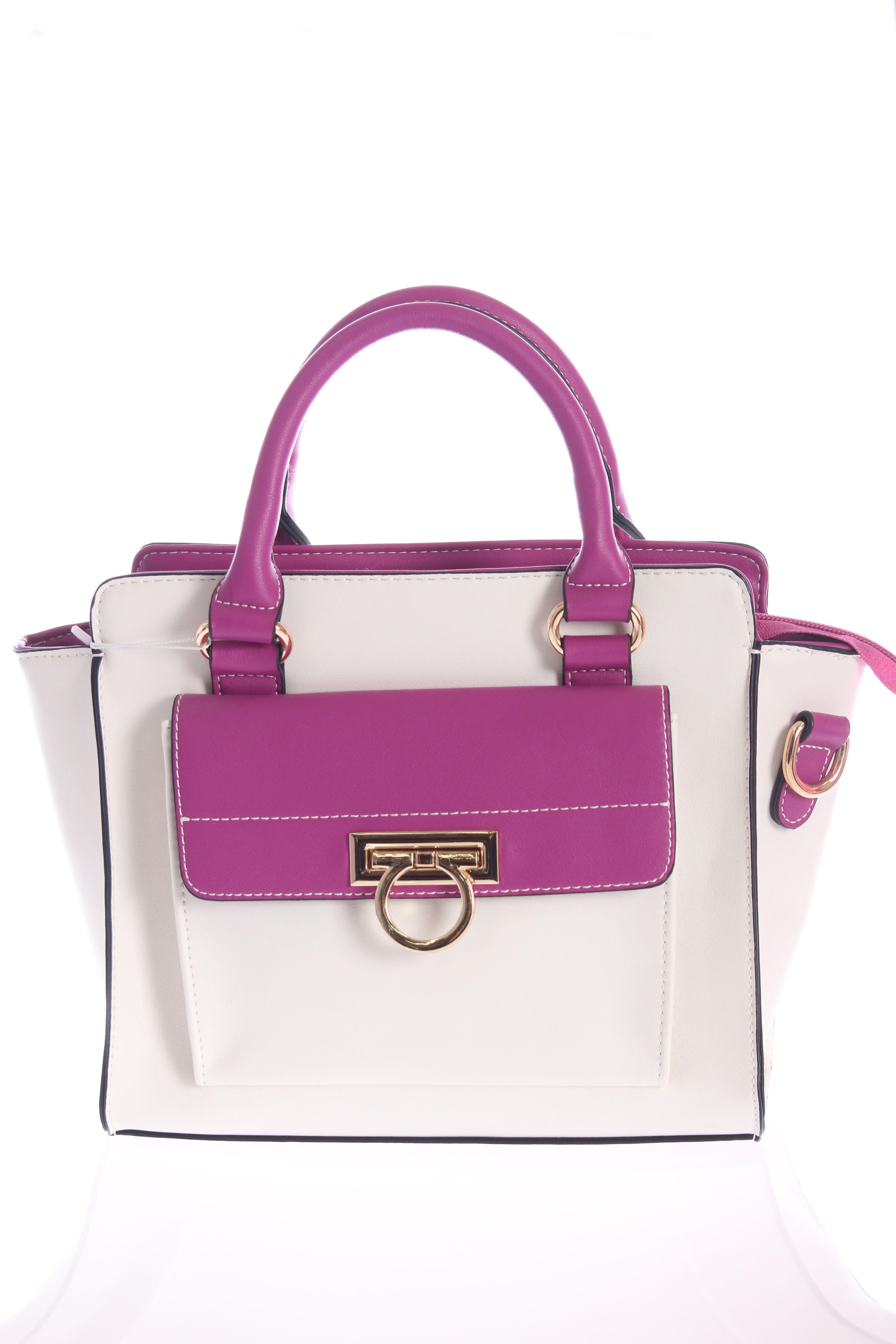 ピンク×白2wayショルダーバッグ