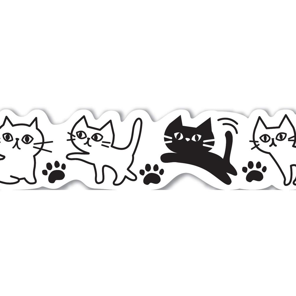 猫マスキングテープ(白猫黒猫)幅15mm