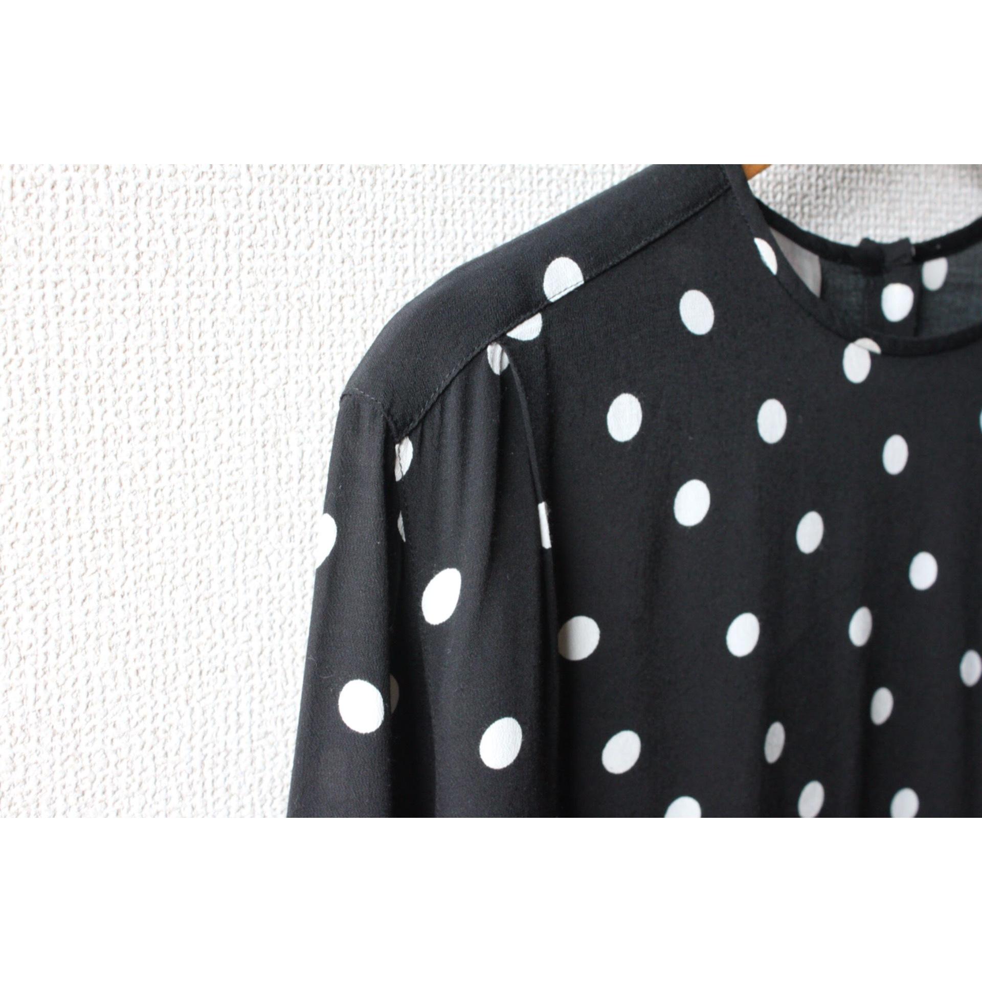 Vintage dot print pullover shirt