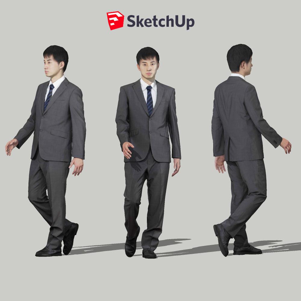 SketchUp素材 3D人物モデル ( Posed ) 101_Sota - 画像1