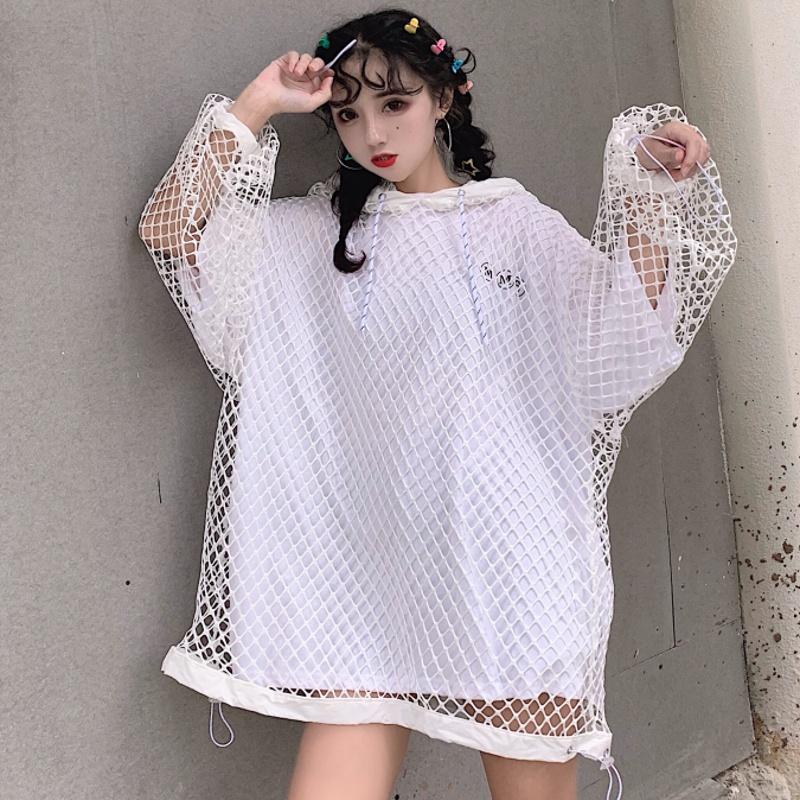 【set】[単品注文]カジュアル無地Tシャツ+透かし彫りアウターセットアップ21764416