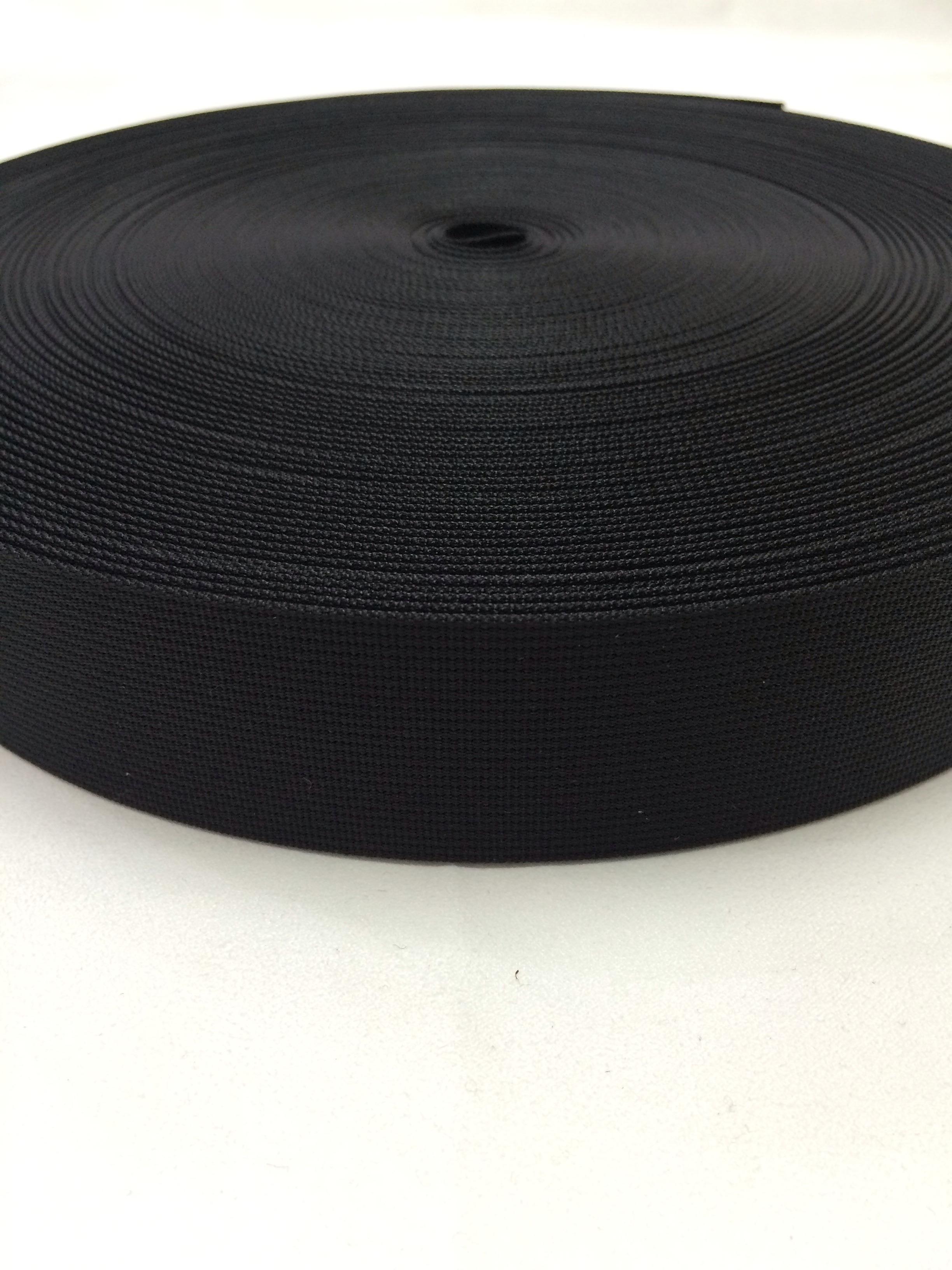 ナイロンテープ 高密度織 50mm幅 1mm厚  黒 1m
