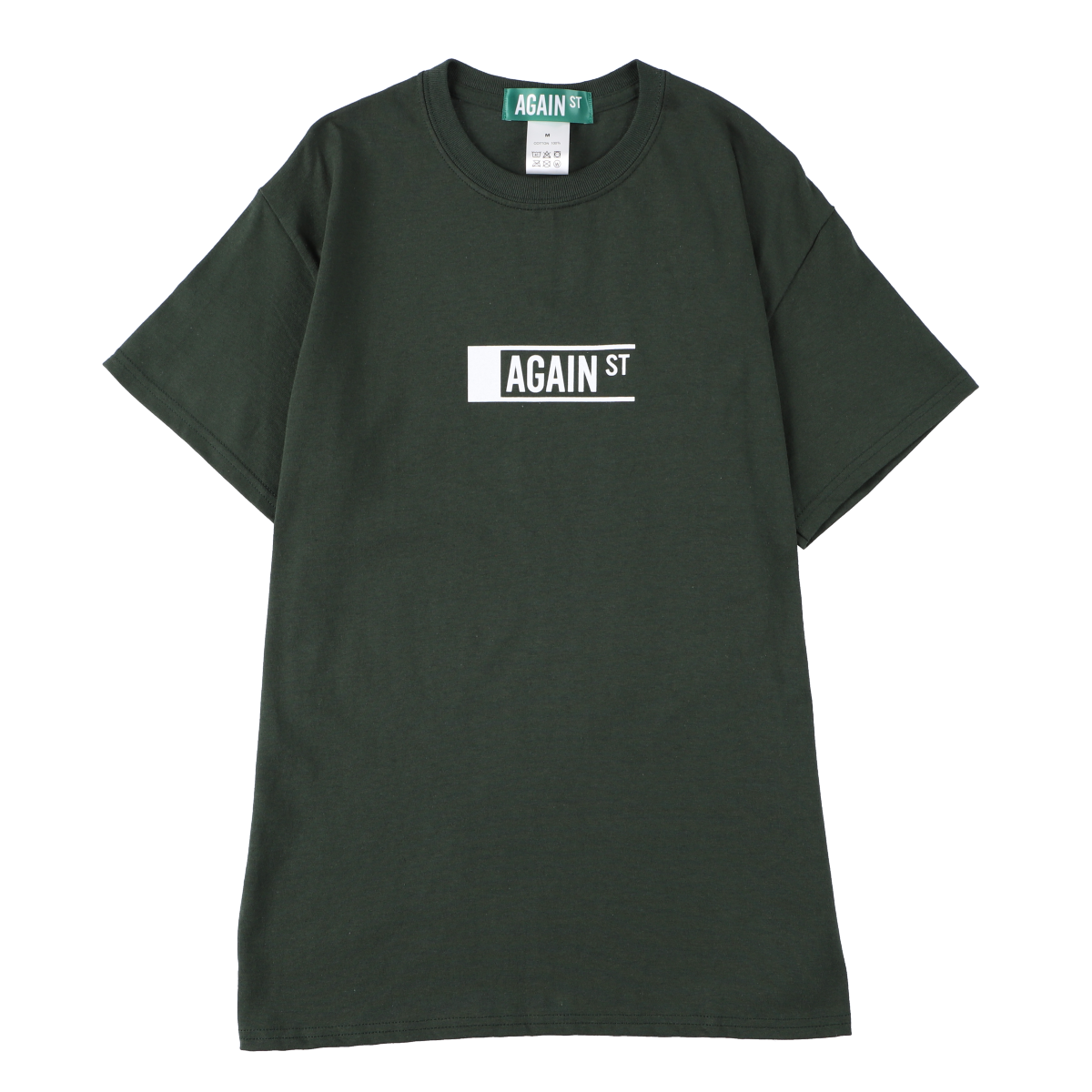 AGAINST Logo Tee Forest Green