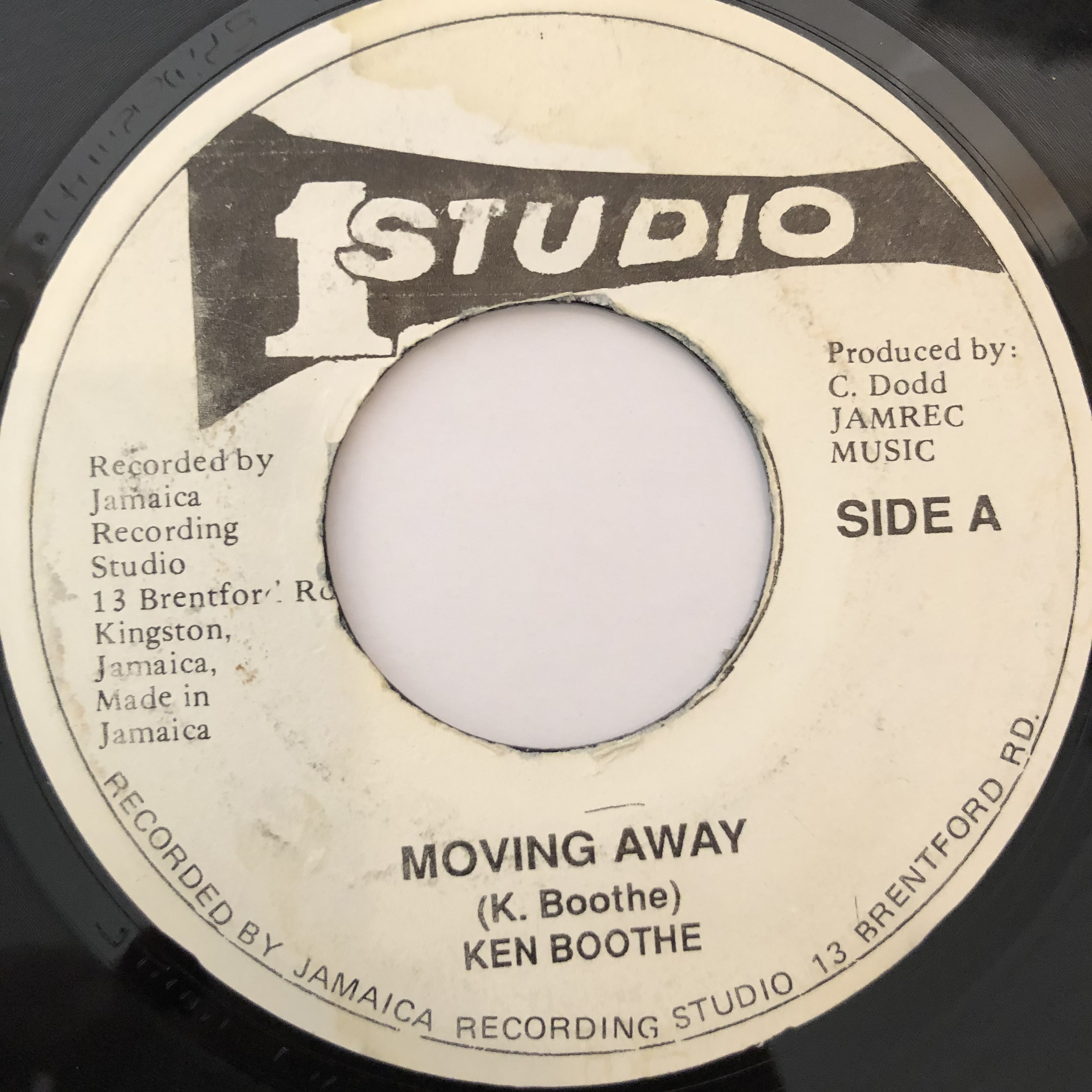 Ken Boothe(ケンブース) - Moving Away【7-20240】