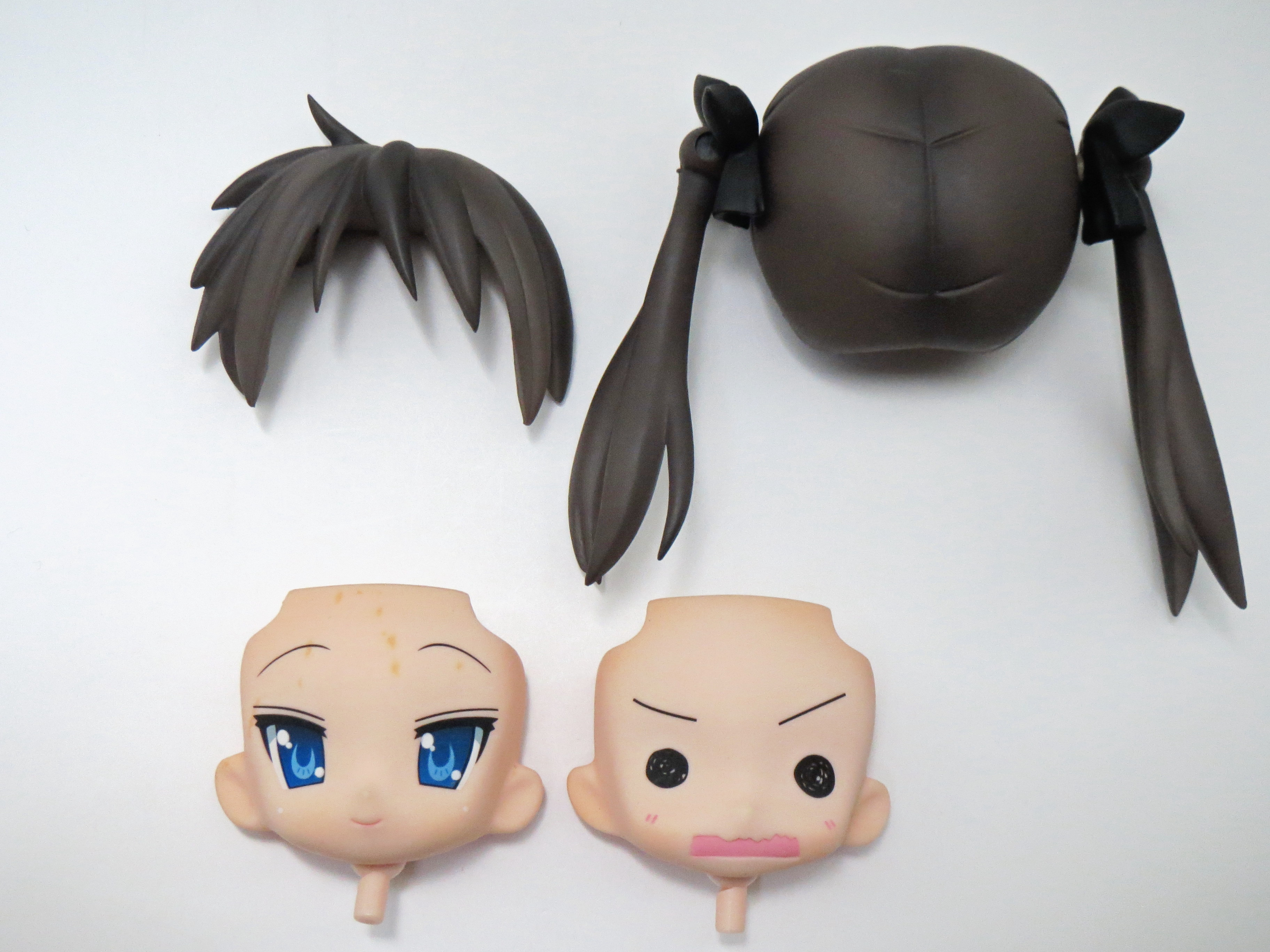 【034】 Fateコスプレ 柊かがみ 髪パーツ、顔パーツ2種セット (Bランク) ねんどろいど