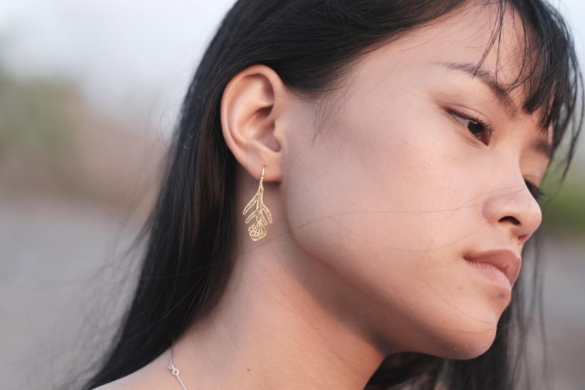 Nazuna(薺) - Earrings / Gold