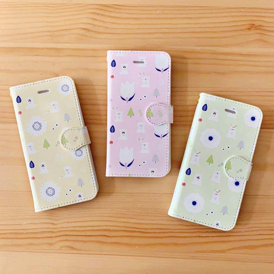 手帳型スマホケース(iPhone)/picnic day