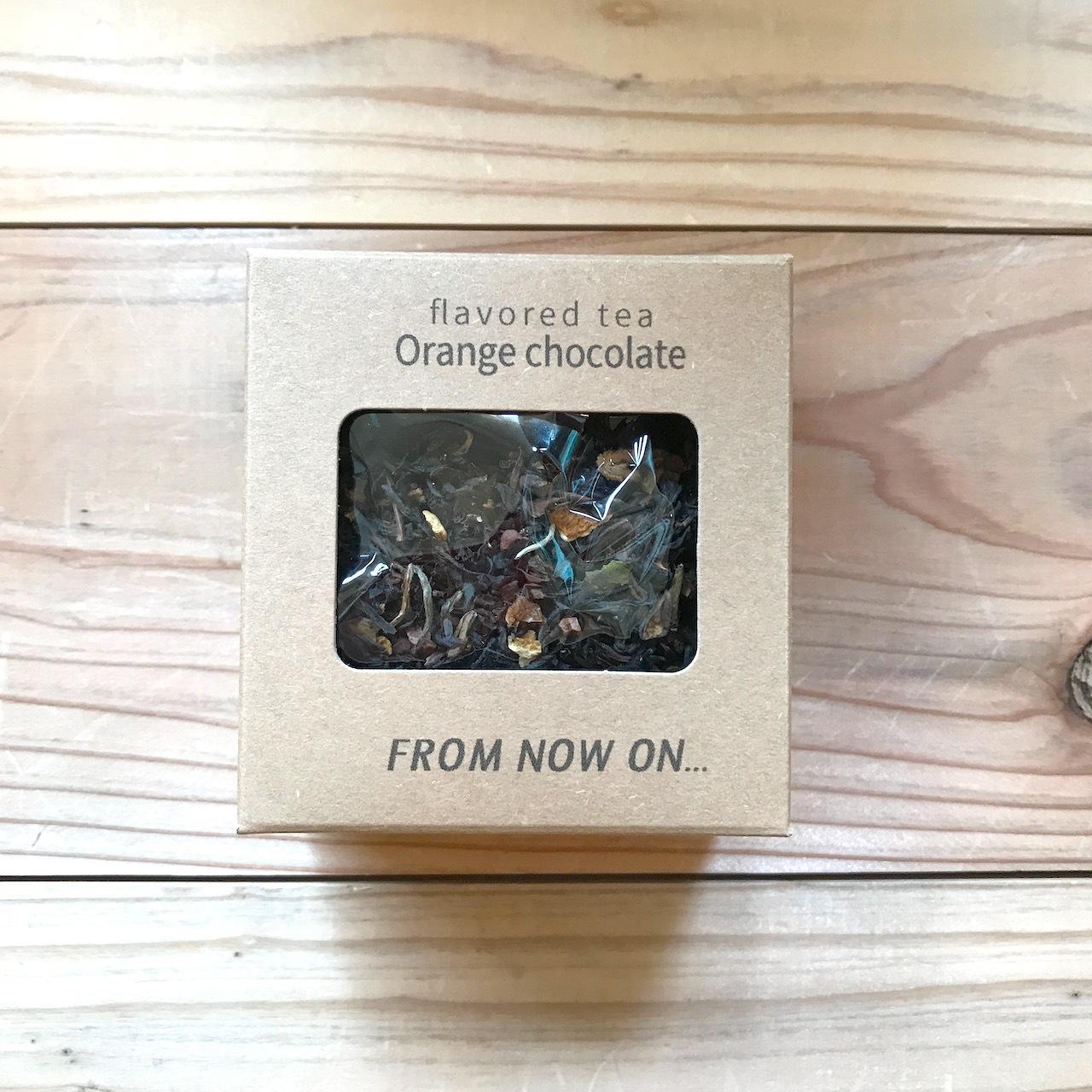 """【今だけ送料無料】"""" FNO Orange chocolate flavored tea / オレンジショコラ フレーバーティー カートンS 20g """""""