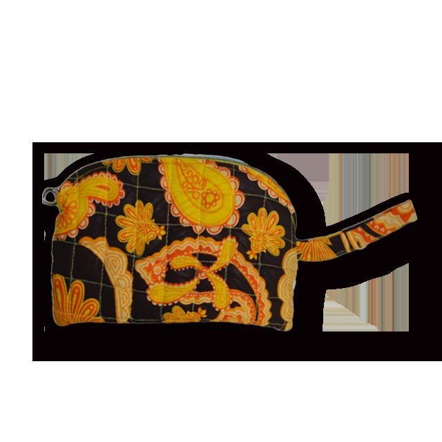 アフリカ柄ポーチ(黄色)