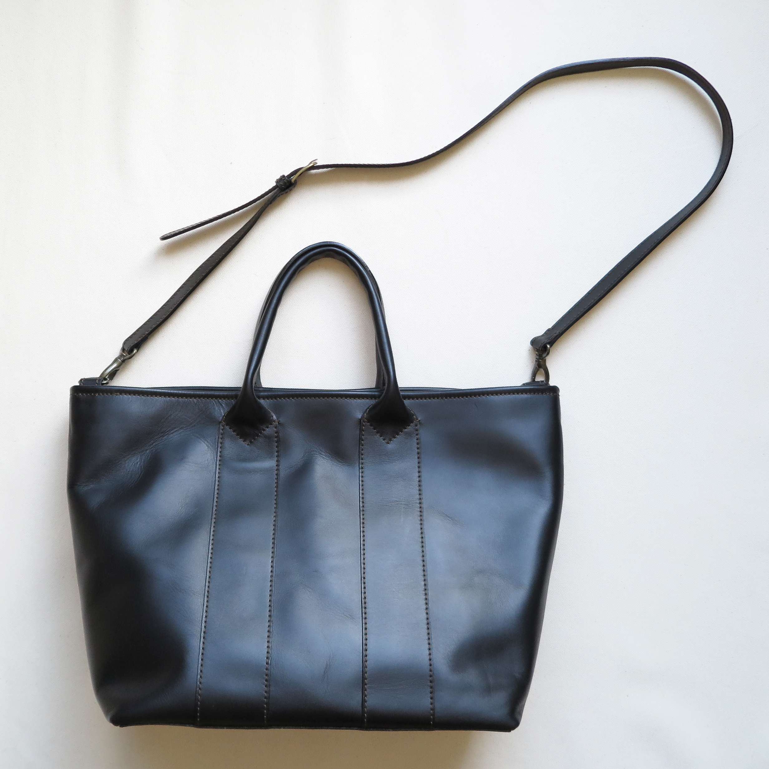 Thick handle tote bag BLACK