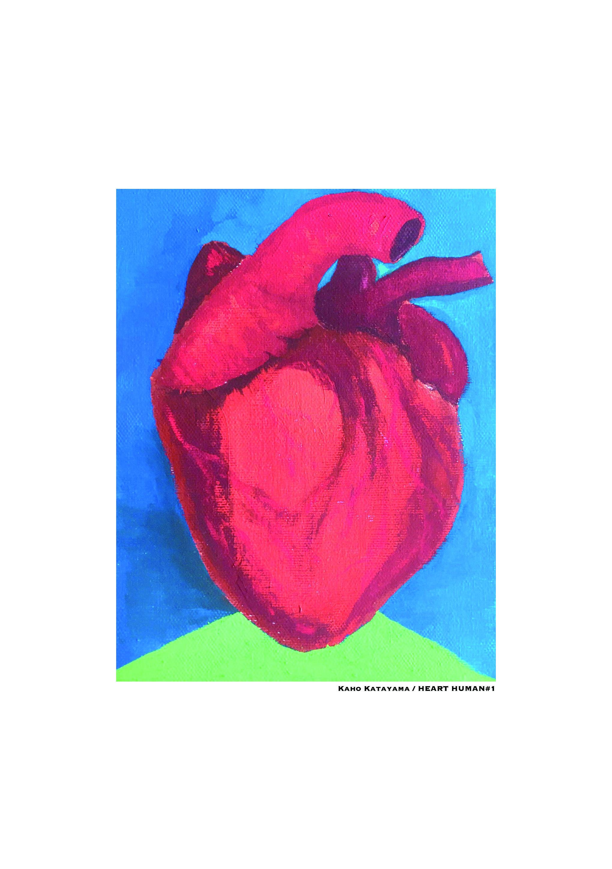HEART HUMAN #1/18cm×14cm/Acrylic painting/ Original picture