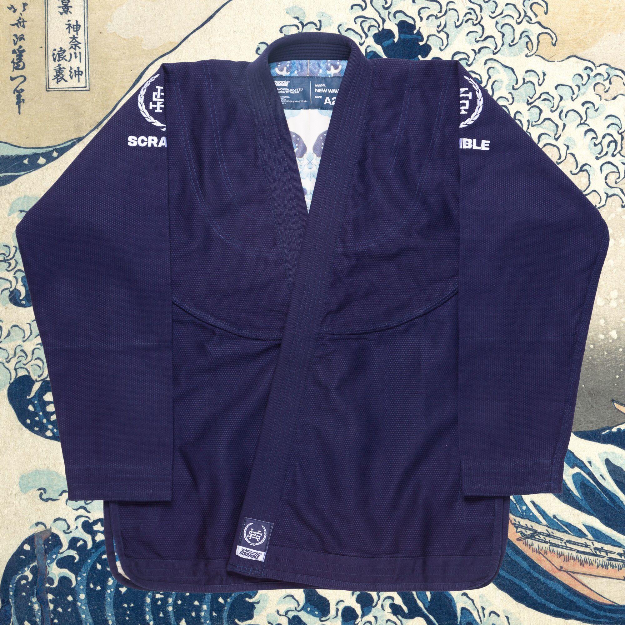 予約注文受付中!!! Scramble New Wave BJJ Kimono ネイヴィー|ブラジリアン柔術衣