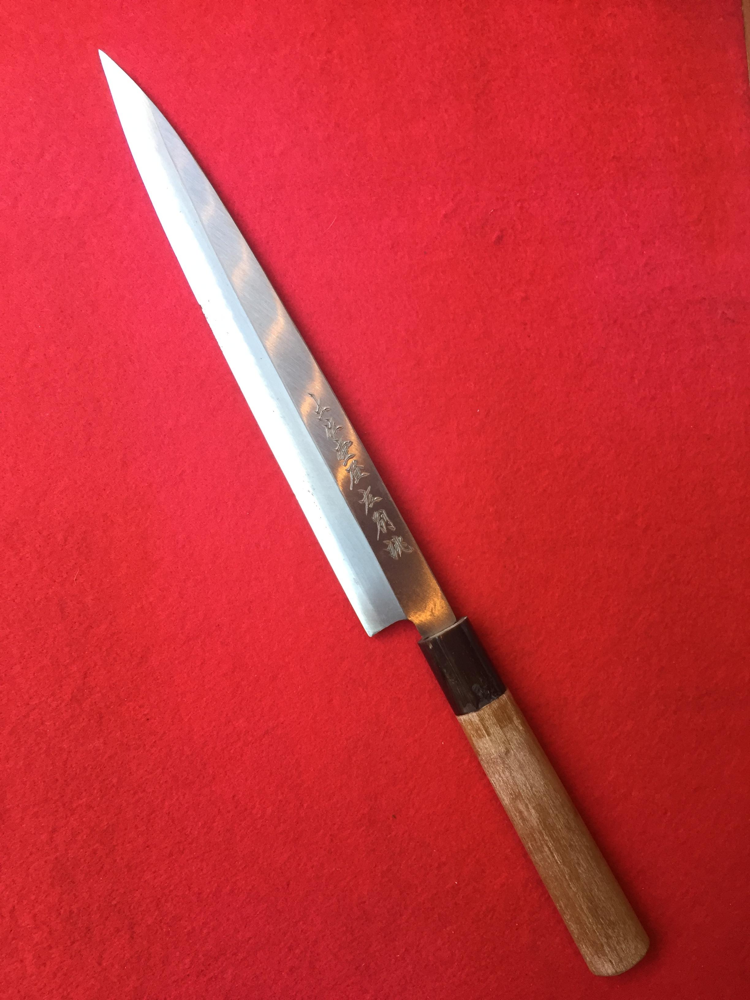 柳刃包丁 左利き用 8寸(安来青紙・片刃)