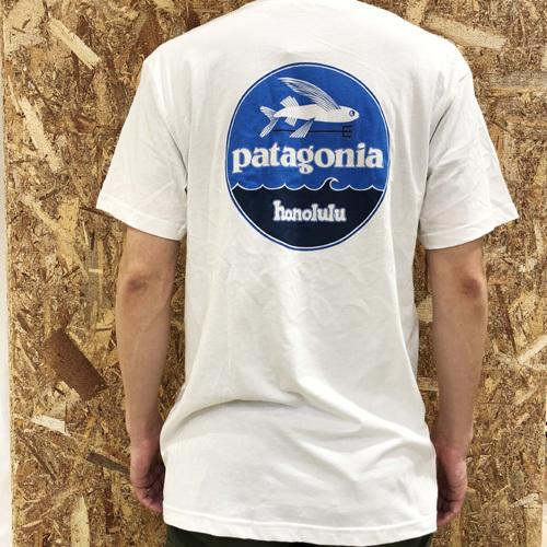ハワイ限定 Patagonia (パタゴニア) pataloha (パタロハ) フライング・フィッシュ Tee HONOLULU限定 ホワイト