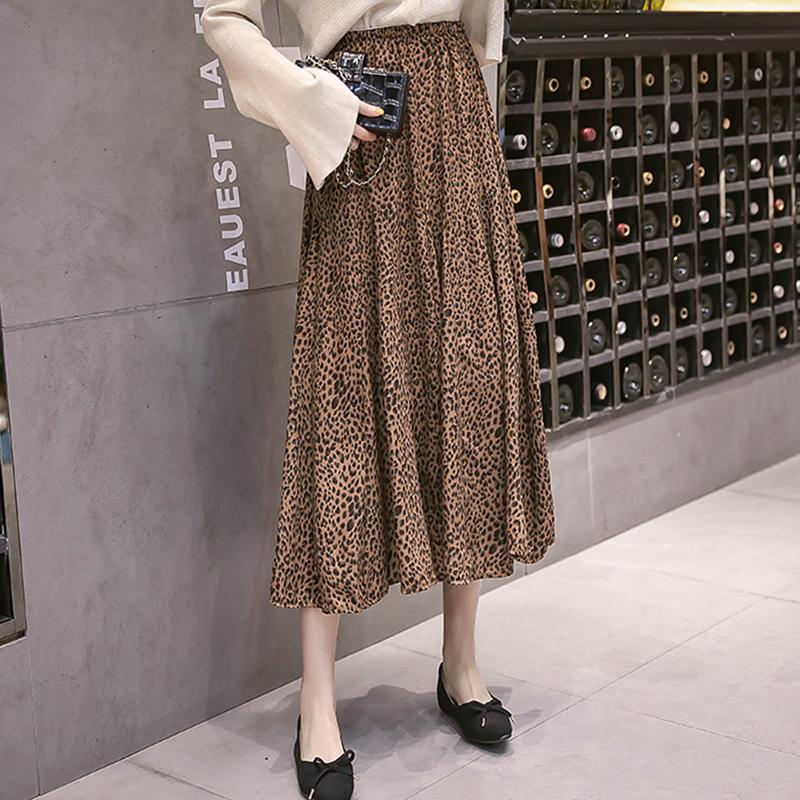 【ボトムス】プリントファッションAラインすね丈スカート17501479