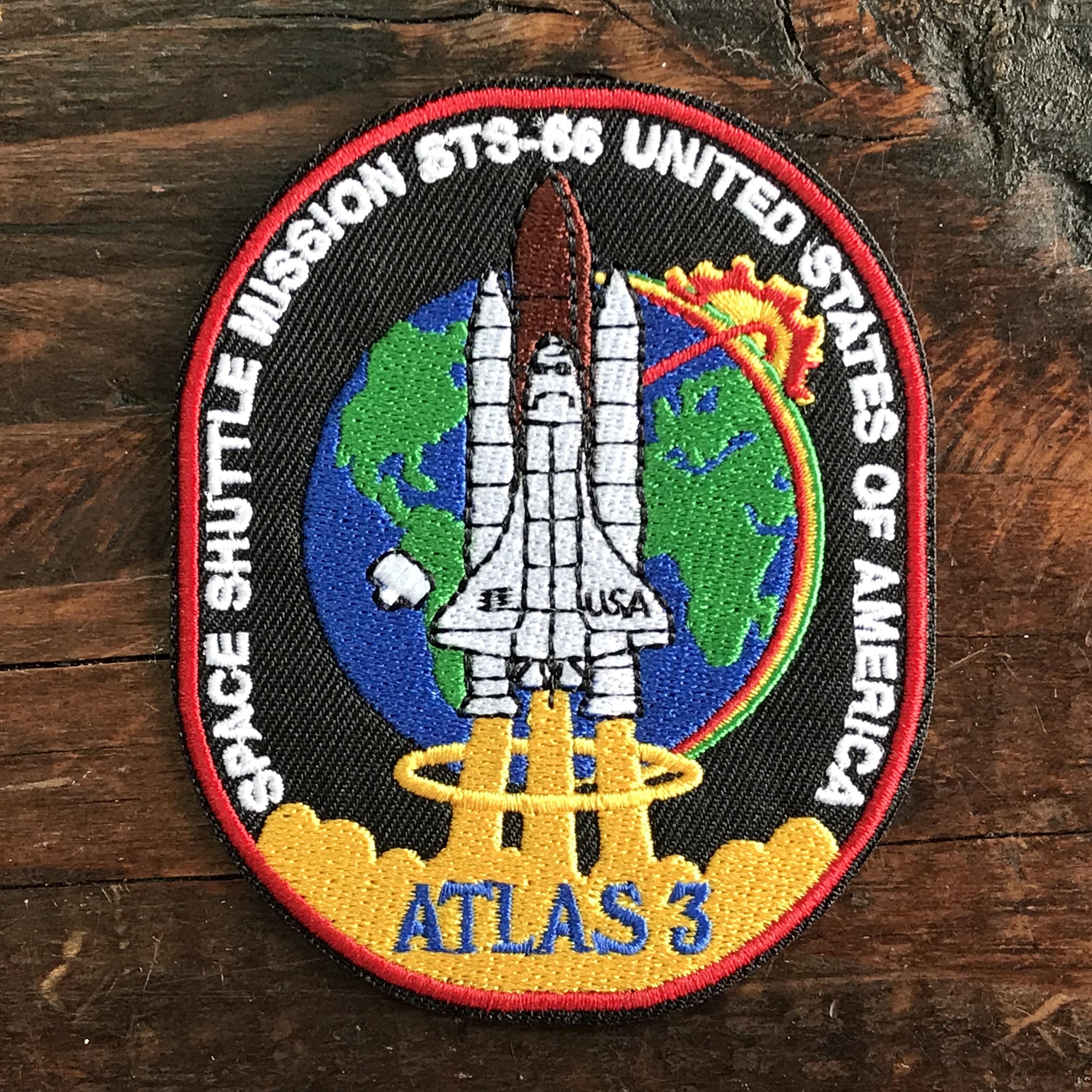 NASA公認(アメリカ航空宇宙局)ワッペン・アップリケ・スペースシャトルミッション・STS-66