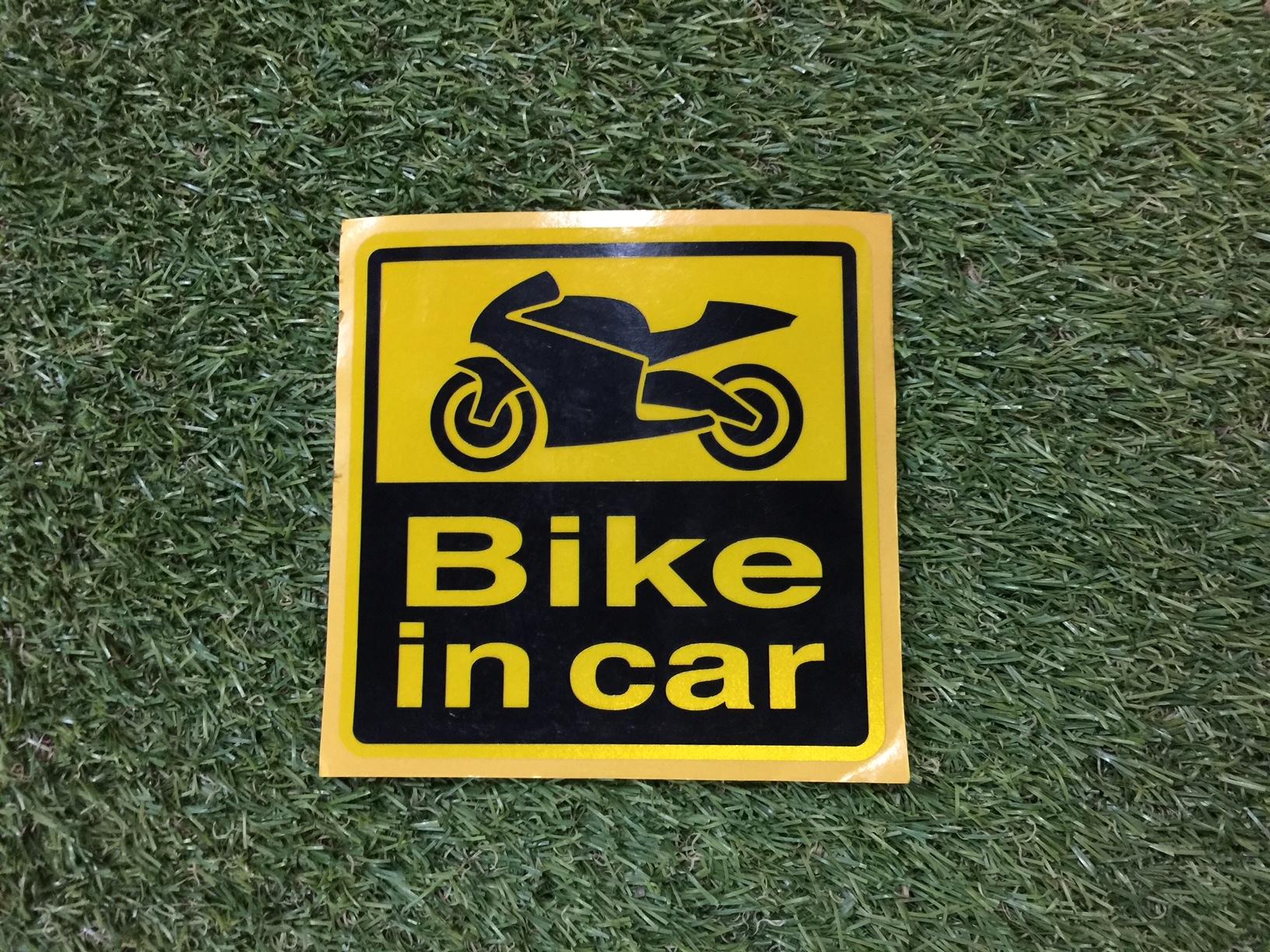 bike in car 反射ステッカー(オン)