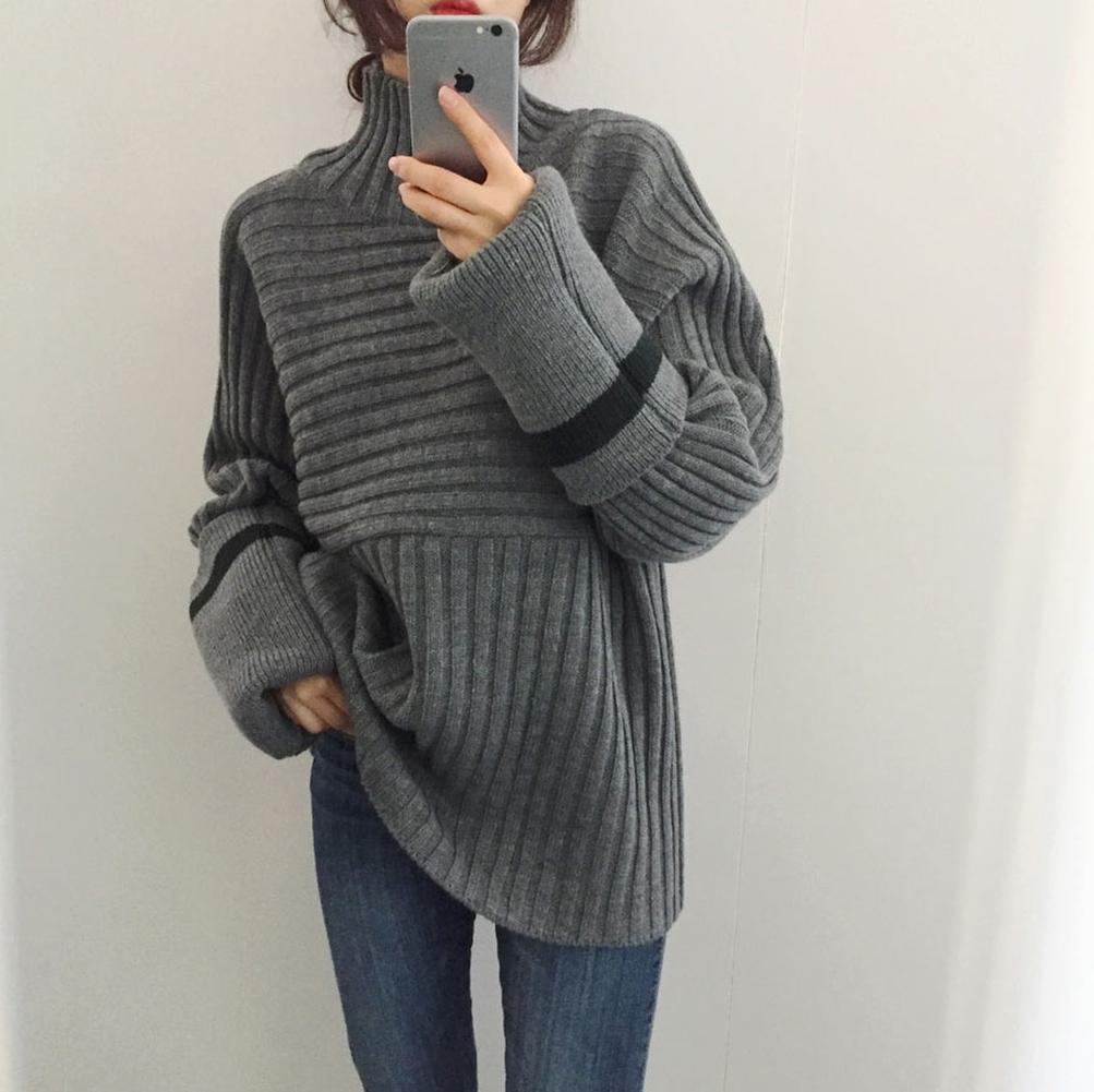 【送料無料】ボリューム袖♡タートルネック セーター プルオーバー♡2カラー