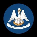ゴーバッジ(ドーム)(CD0820 - FLAG LOUISIANA US State) - 画像1