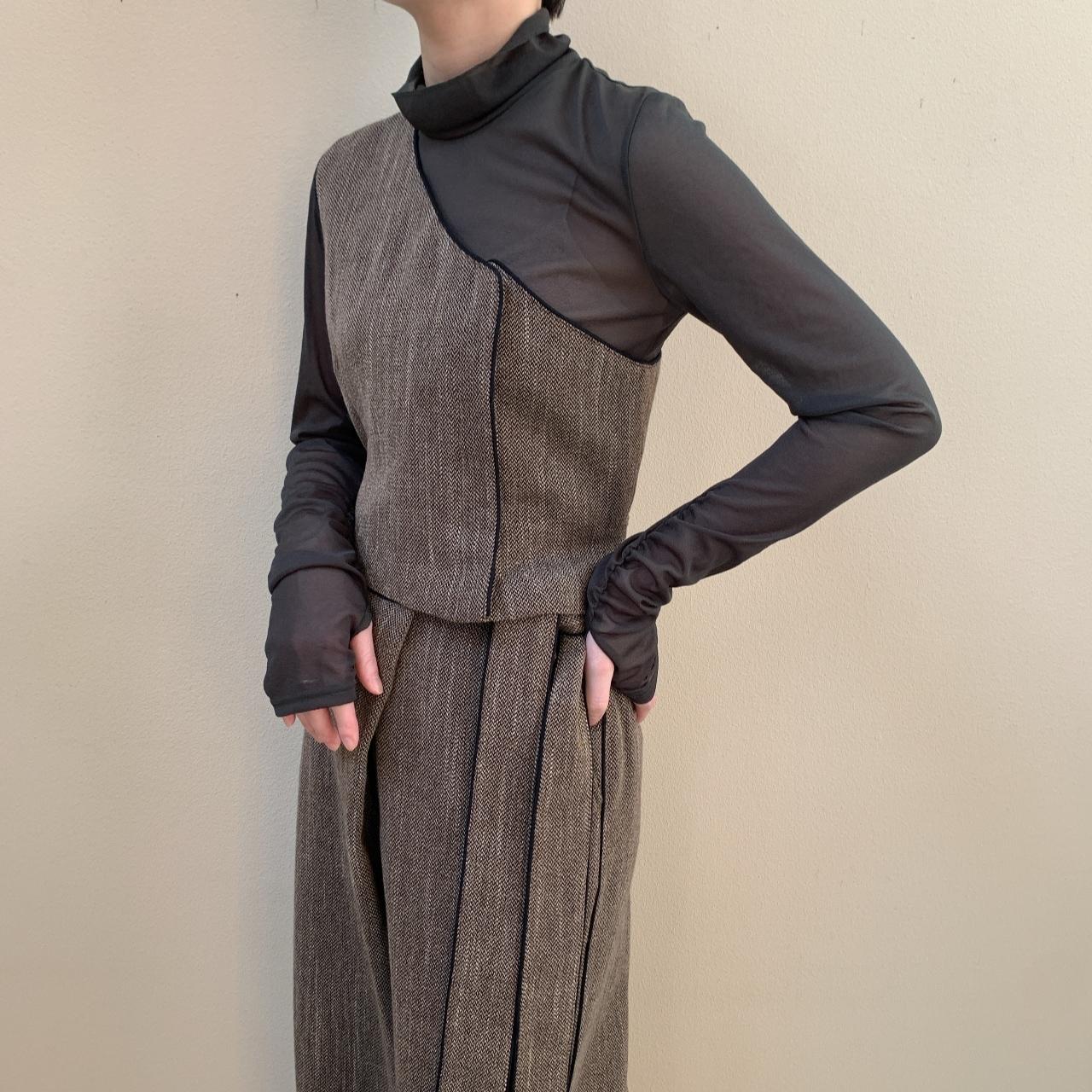 VillD - tweed one shoulder vest