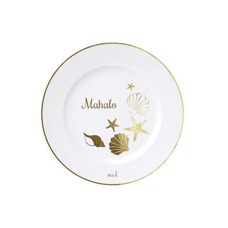 Mahalo & Many Shells Plate