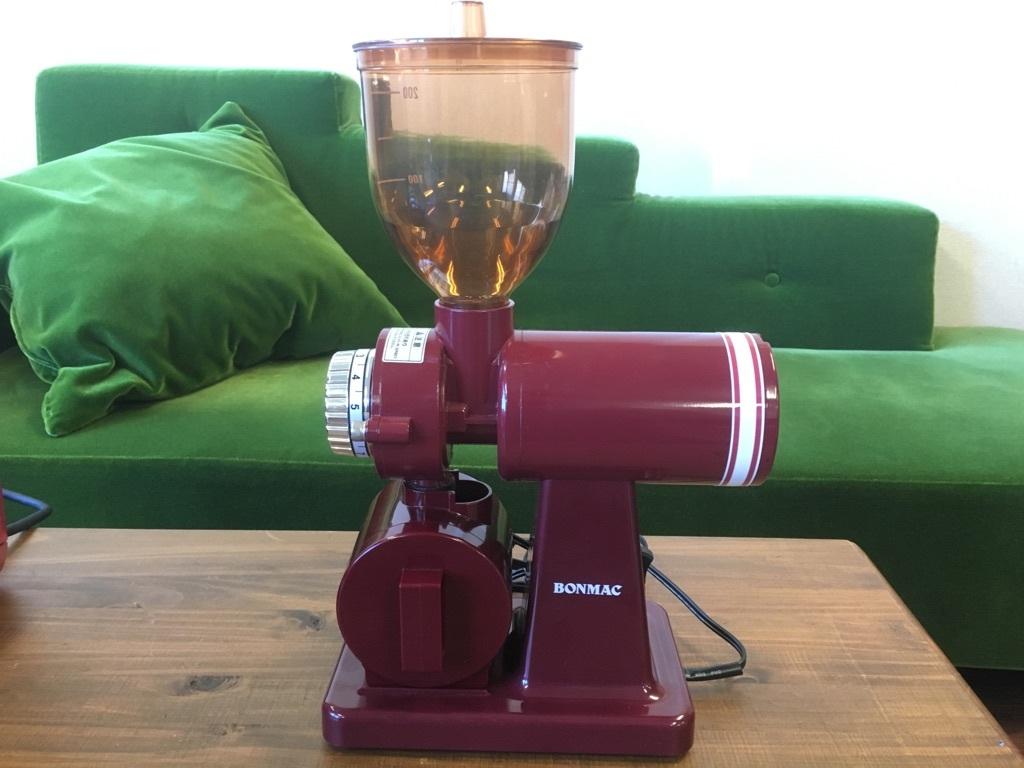 ボンマック BM-250 家庭用コーヒーミル・コーヒーグラインダー レッド BONMAC