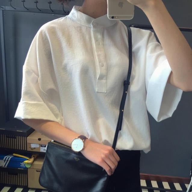 【tops】簡約・シンプル半袖無地シャツ12851825