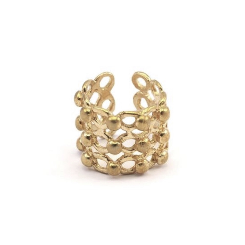 Raw brass Rings -  tsubuリング RG-026