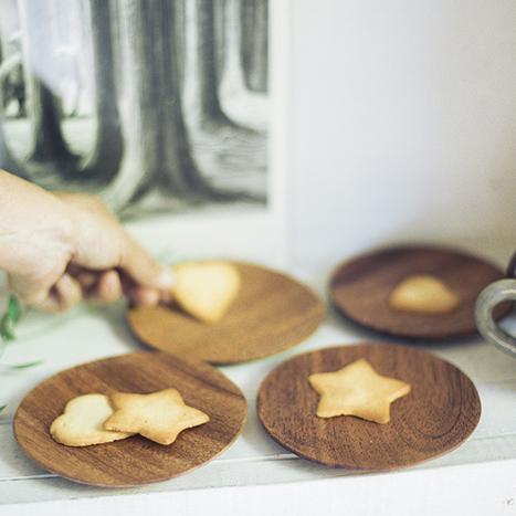 木のプレートS 4枚セット 小皿 手作り