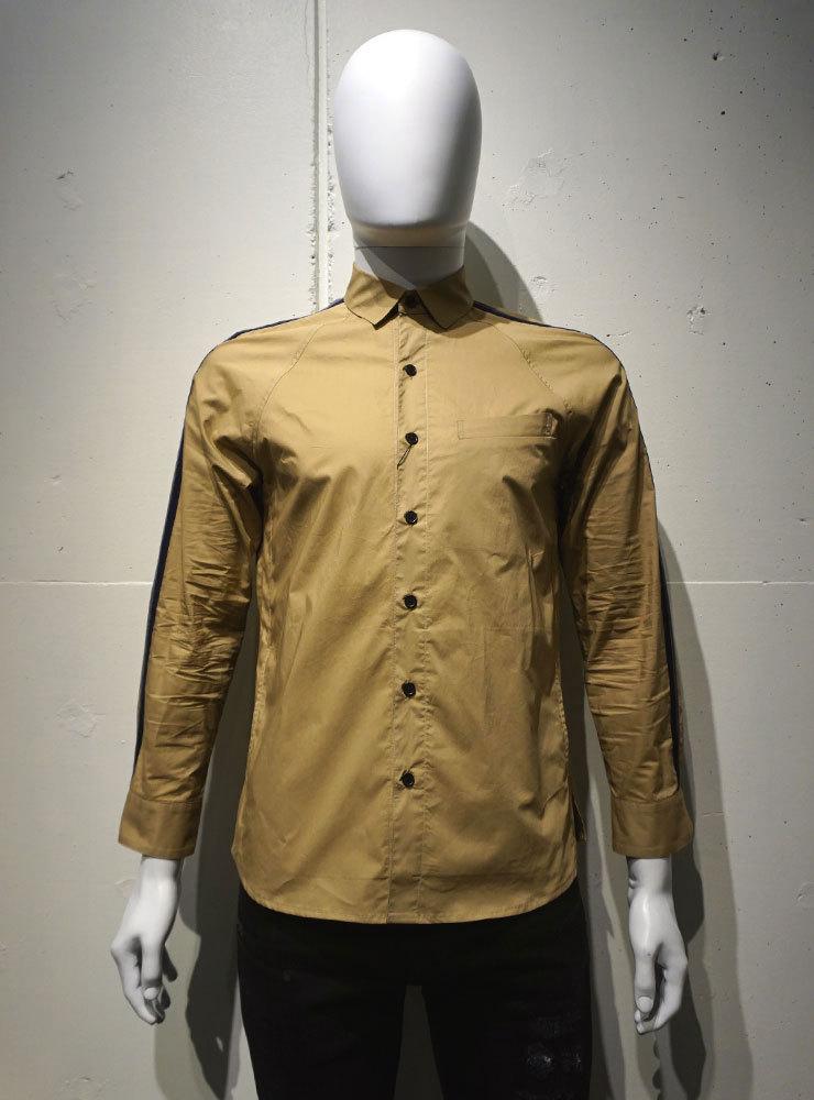ICHIMILE GRATORY Sleeve Line Shirts ベージュ