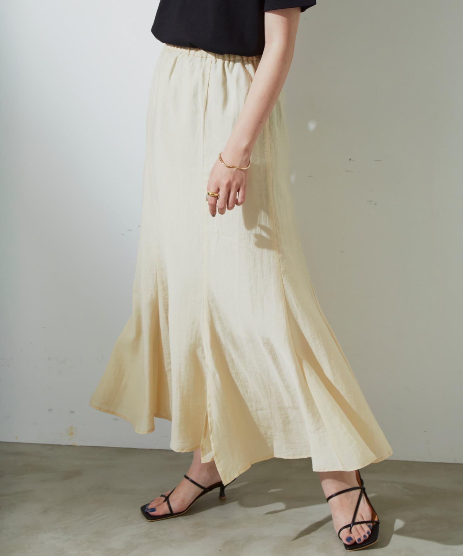 マーメイドラインスカート/YEL
