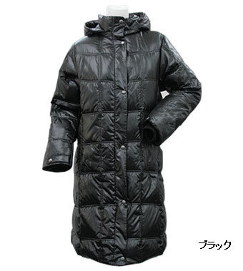 PE-795DL 秋冬レディースダウンコート(ブラック)