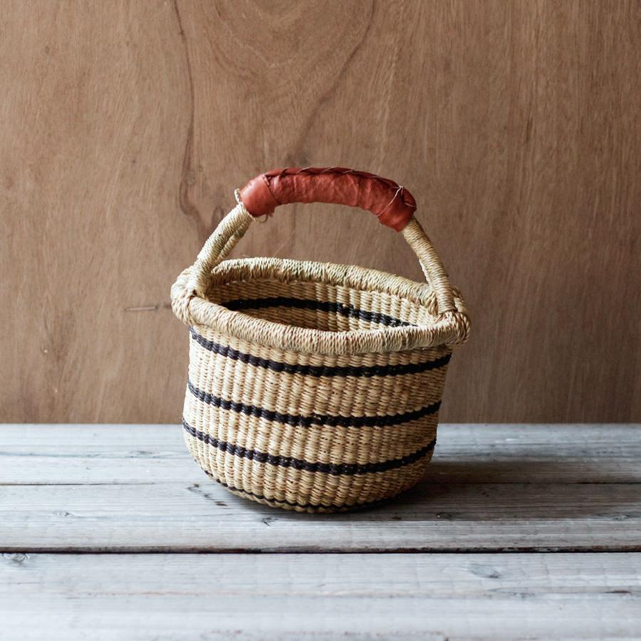 ガーナの手編み ボルガバスケット / 小 E